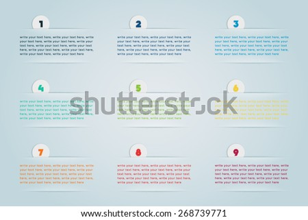 Infographic 3D Numbered Step Bubbles 2 - stock vector