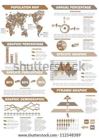 INFOGRAPHIC DEMOGRAPHIC ELEMENTS NEW BROWN