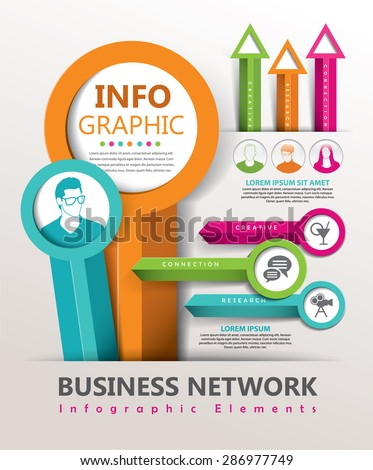 Infographic design elements - stock vector