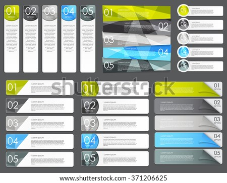 Infographic Design Elements Set for Your Business Vector Illustration. EPS10 - stock vector