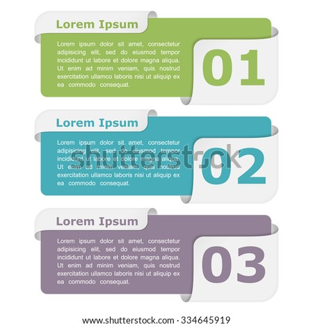 Infographic design elements with place for titles and numbers, vector eps10 illustration - stock vector