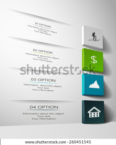 Infographic design in 3D - stock vector