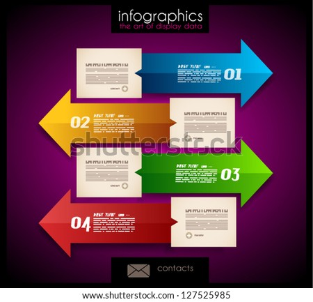 Infographic design - original paper geometric shape with shadows. Ideal for statistic data display. - stock vector