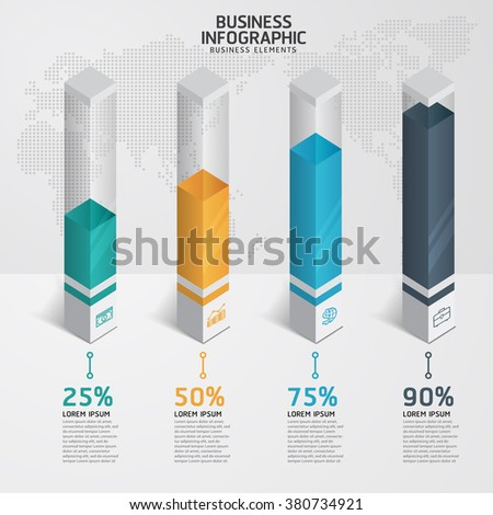 Infographic design template and marketing icons, Business concept with 4 options, parts, steps or processes. - stock vector