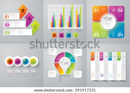 Infographic design template can be used for workflow layout, diagram, number options, web design. Business concept with 3, 4, options, parts, steps or processes. Abstract background. - stock vector