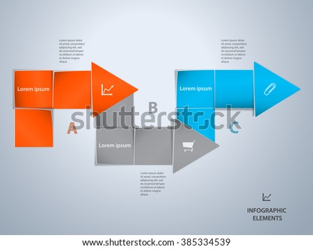 Infographic design template. File is in eps10 format. - stock vector