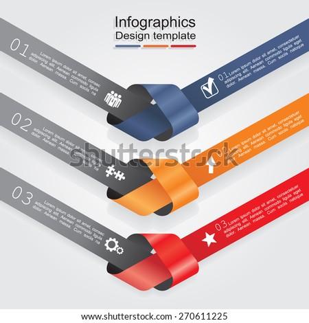 Infographic design template. Vector illustration Eps 8. - stock vector