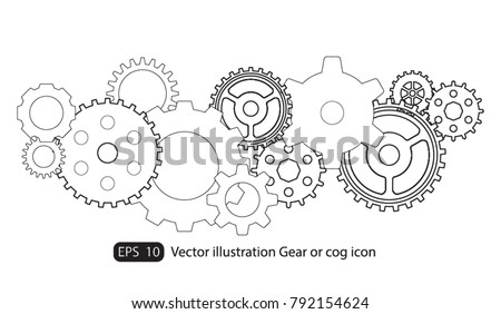 Infographic Design Template Vector Gears Cogs Gear Stock Vector HD ...
