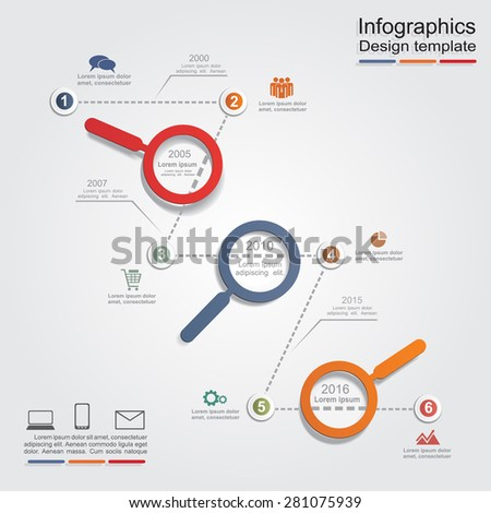 Infographic design template with elements and icons. Vector illustration - stock vector