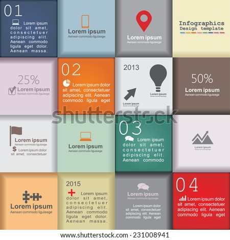 Infographic design template with place for your content. Vector illustration - stock vector