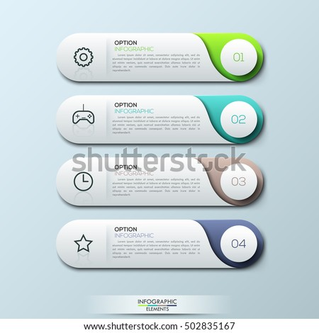 Infographic Design Template  Separate Numbered Stock Vector Hd