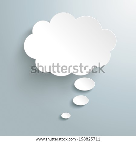 Infographic design white thought bubble on the grey background. Eps 10 vector file. - stock vector