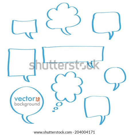 Infographic design with blue communication bubbles on the grey background. Eps 10 vector file. - stock vector