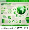 Infographic ecology design - stock
