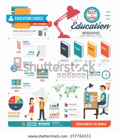 Infographic education template design . concept vector illustration - stock vector