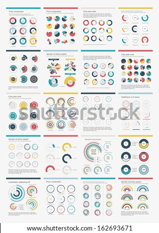 Infographic Elements.Big chart set icon. - stock vector