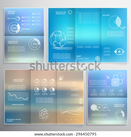 Infographic elements, brochures for business reports - stock vector