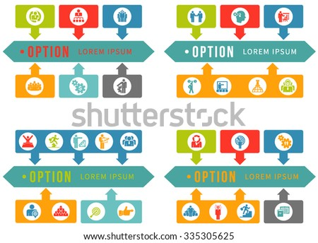 Infographic elements.Business Concept Icon, Arrow icon set. Vector. - stock vector