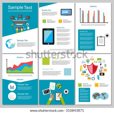 technology brochure templates - infographic elements business technology background
