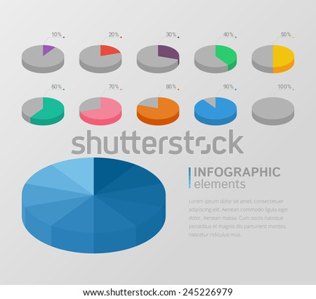 Infographic elements - circle diagrams  - stock vector