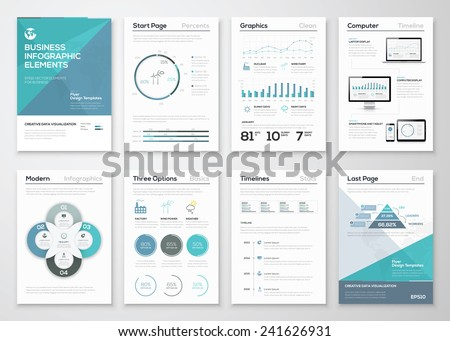 Infographic elements for business brochures and presentations. Ecology concept to visualize environmental concept. Fully editable vector illustration. - stock vector