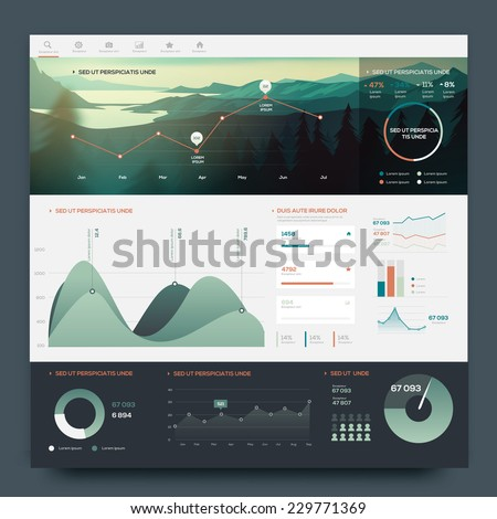 Infographic elements for your projects. Vector - stock vector