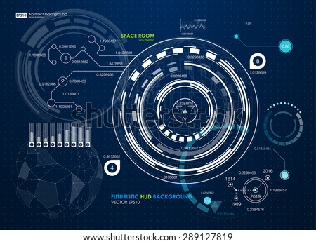 Infographic elements. futuristic user interface HUD. Abstract background with connecting dots and lines. Connection structure. Vector science background. Business abstract Vector illustration - stock vector
