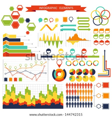 Infographic elements pack - stock vector
