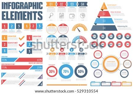 Infographic elements process infographics steps options em vetor infographic elements process infographics steps and options circle diagram workflow diagrams ccuart Images