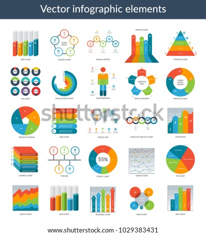 Infographic elements set simple templates circle stock vector set of simple templates circle pie chart world map gumiabroncs Image collections