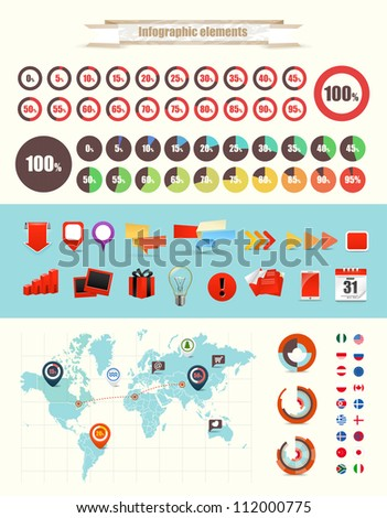 Infographic elements vector collection - stock vector