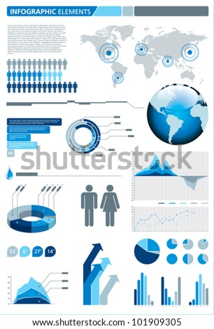 Infographic elements. Vector illustration. - stock vector