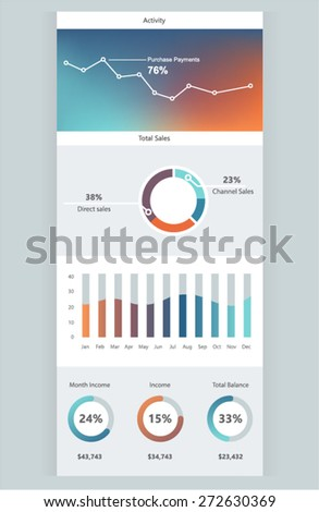 Infographic Elements. Vector Illustration EPS 10. - stock vector