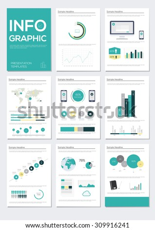 Infographic elements vector illustration. Information Graphics Presentation  - stock vector