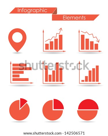 infographic elements. vector set 1. eps10 - stock vector