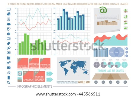 infographic elements, web technology icons. vector timeline option graph, reminder, clock symbol. pie chart info graphic icon. financial statistic and marketing report presentation banner design - stock vector