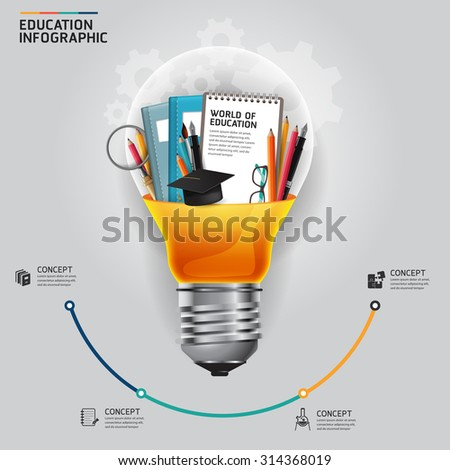 infographic innovation idea on light bulb concept vector illustration - stock vector