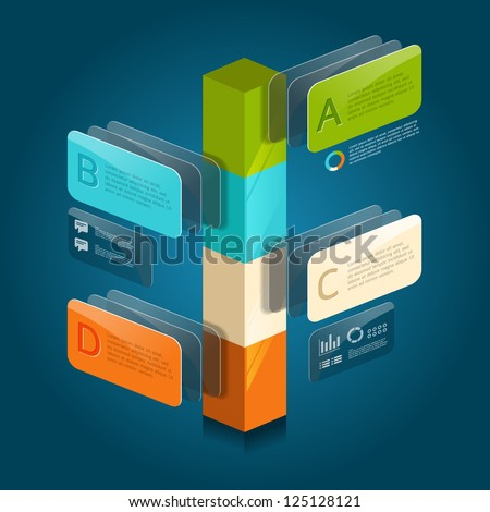 infographic isometric graph / graphic or advertise layout vector - stock vector