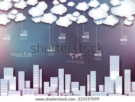 Infographic Layout for modern business data presentation and classification. Ideal for item or service ranking or products comparison. - stock vector