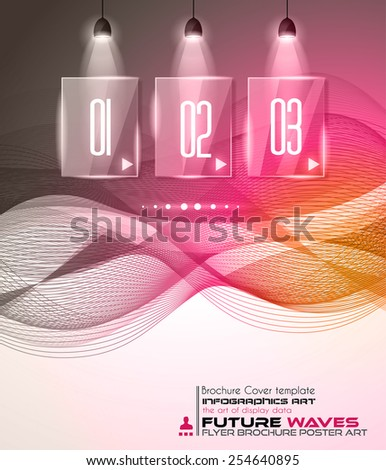 Infographic Layout with Spotlights over an high tech background to use for cover templates, poster wallpaper, presentation pages, cards and business related advertisement. - stock vector
