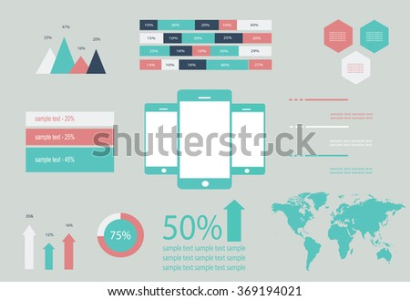 Infographic material design - stock vector