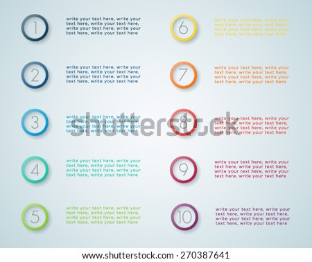 Infographic Numbered Steps 1  - stock vector