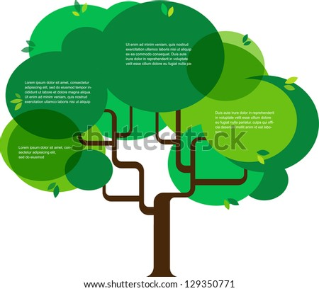infographic of ecology, concept design with tree - stock vector