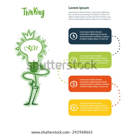 infographic of thinKing, vector - stock vector
