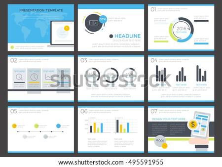 Business Infographics Presentation Slide Template Flat Stock ...