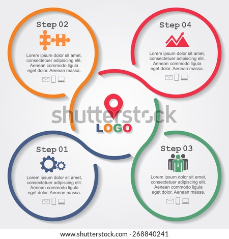 Infographic Ideas infographic lines : Infographic Report Template Lines Icons Vector Stock Vector ...