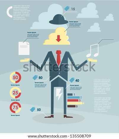 infographic. sale - stock vector