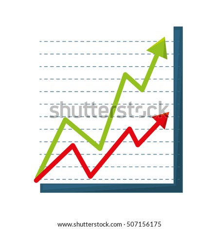 infographic statistics arrows isolated icon vector illustration design