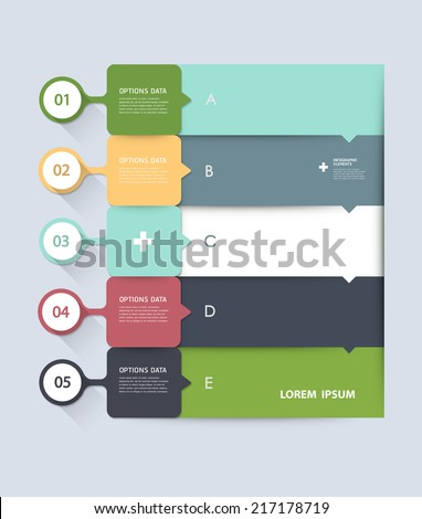 Infographic step by step template, can be used for infographics, number banners, graphic for website layout  - stock vector