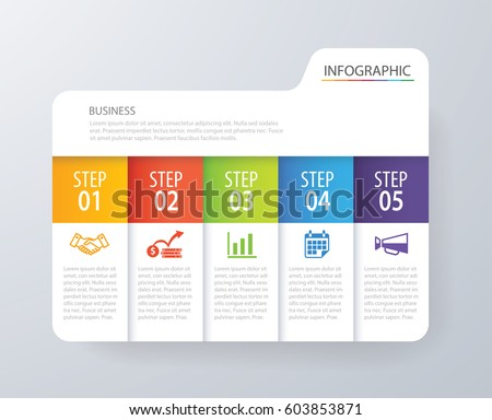 table chart design. infographic tab index design vector and marketing template business. can be used for workflow layout table chart x